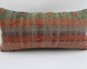 10x20 turkish kilim pillow decorative kilim pillow bedrrom pillow sofa pillow lumbar pillow turkish kilim pillow ethnic pillow SP2550-1569
