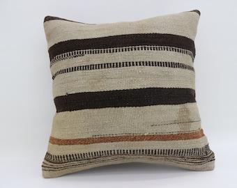 floor cushion cover 20x20 striped kilim pillow big pillow turkish kilim pillow bohemian pillow pastel pillow large pillow SP5050-2644