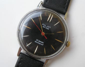 Vintage Ussr Watch POLJOT DE LUXE ultra Slim - Serviced