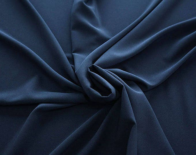 905046-Crepe 100% Polyester, width 150 cm, made in Italy, dry washing, weight 306 gr
