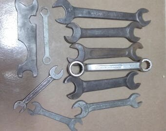 Lot of 11 VIntage Wrenches