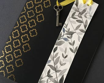 Embossed  Moleskine Notebook- with free matching bookmark!
