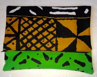 African print, clutch, bag