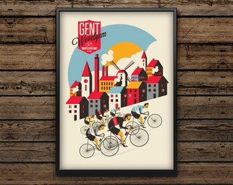 Cycling Art Print A3 / Gent Wevelgem