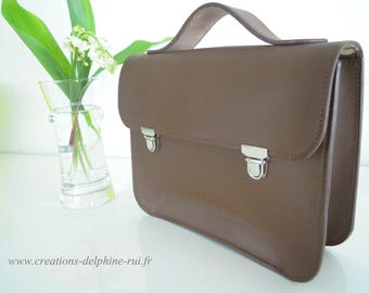 Mini Satchel leather - handcrafted