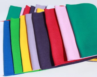 Cotton Elastic Rib Knit Fabric Tube 16 x 80 cm
