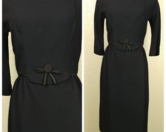 Beautiful Black Vintage Dress by Dauphine