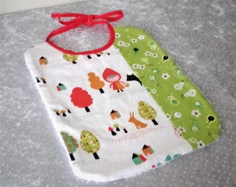 "Bib with bias ""little Red Riding Hood"""