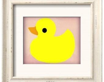 Rubber Ducky Art Print - Pink (8x10)