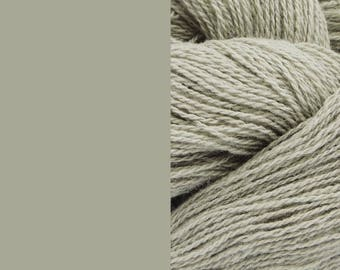 Wool Yarn, pebble grey, fingering 2-ply worsted pure lambswool 8/2 100g/350m