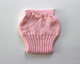 Knitted cotton diaper cover