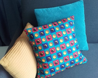 Red yellow blue wax pillow