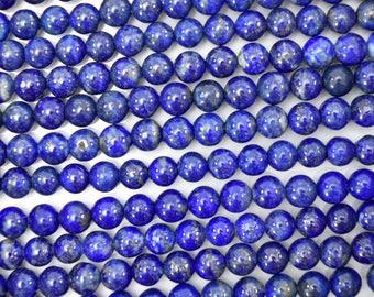 "4mm natural blue lapis lazuli round beads 15"" strand S2 38577"