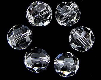 6 10mm Swarovski crystal round 5000 Crystal 17550