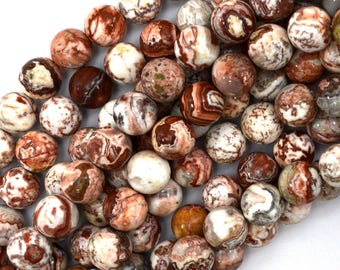 "12mm Mexican crazy lace agate round beads 15"" strand 39597"