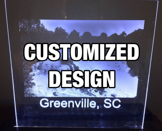 Laser Engraved LED Sign