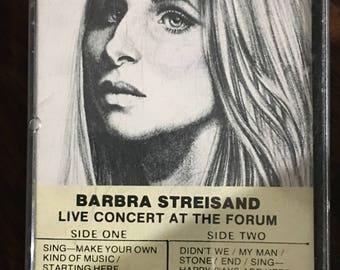 Barbra Streisand Live Concert at the Forum Cassette Tape rare