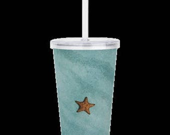 "Double Wall Acrylic Tumbler ""Starfish"""