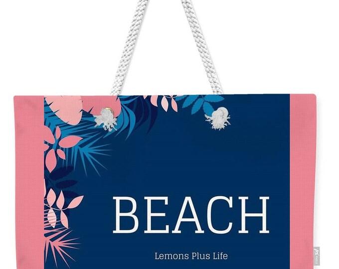 """Weekender Tote Bag """"Beach"""""""