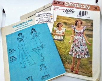 "Bust 32 1/2"" Vintage 1980s Simplicity pattern, vintage dress pattern, dressmaking pattern, paper pattern, 1980s pattern, vintage dressmaking"