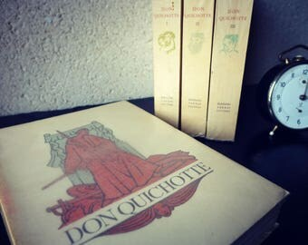 DON QUIXOTE - rare - 4 volumes Edition numbered - Collection books vintage 1947