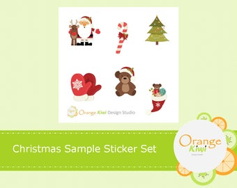 Christmas Sticker Set, Christmas Stickers, Sample Stickers, Christmas Planner Stickers, Erin Condren Life Planner