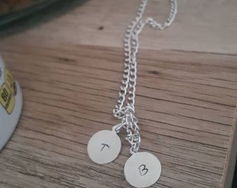 Personalized Initial necklace - Custom name necklace - Metal stamped necklace - Bar necklace - Initial Jewelry - Personalized Jewelry gift