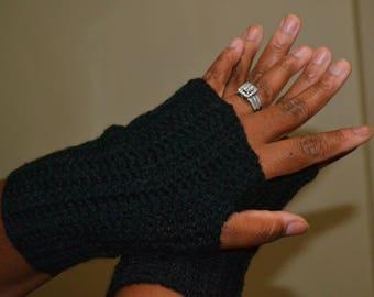 Crochet Fingerless gloves/Women's Crochet Fingerless gloves - size Medium