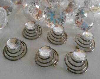 Set of 6 wedding rhinestone Crystal hair jewelry