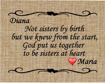 Not Sisters By Birth - Friend Gift - Gift for Best Friend - Birthday Gift -  Special Friend Quote - Christmas Gift For Friend - Friend Quote