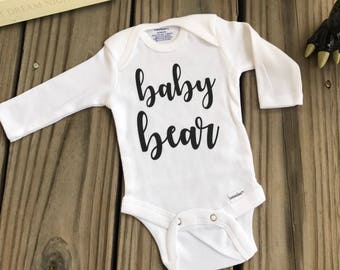 Baby Bear Girl / boy /unisex Onesie Coming Home Outfit, Baby Shower Gift Idea Going Home Outfit Summer Fall Baby