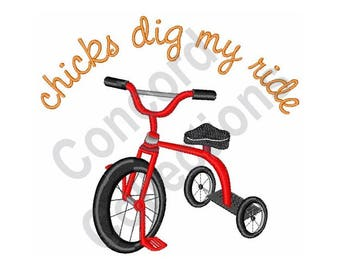 Tricycle - Machine Embroidery Design