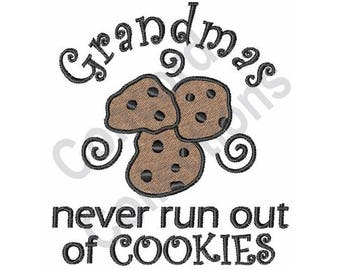 Grandmas Never Run Out of Cookies - Machine Embroidery Design, Grandmas, Cookies