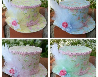 Alice In Wonderland Party Hats, Shabby Chic Hat, Party Hats