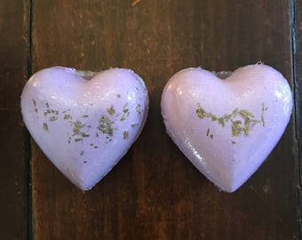 Lavender Heart Bath Bombs