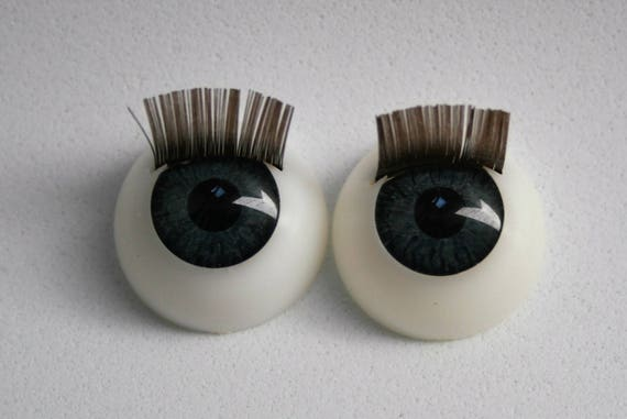Doll eyes eyelashes a pair 16mm eyes reborn bjd eyes for Craft eyes with lashes