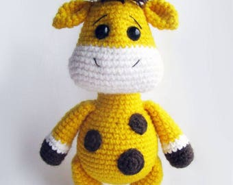 Crochet Stuffed Giraffe Toy