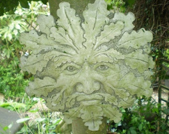 Architectural Salvage Antique,Autumn Green Man garden Plaque,Reclamation,Beautifully Weathered