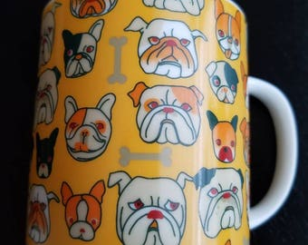 Pug Mug, French Bulldog Mug, Bulldog Mug, Made in Japan Mugs