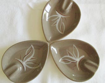 Set of Three Winfield Ceramic Ashtrays, Winfield Desert Dawn Ashtrays,