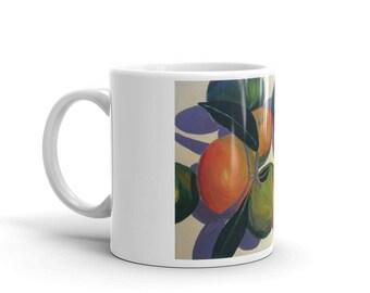 Tangerine Still Life Mug
