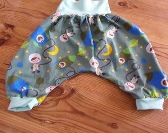 oeko tex jersey harem pants size 2 years