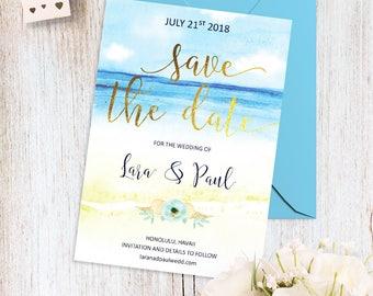 Etsy wedding invitations beach theme