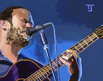 Dave Matthews Painting Print