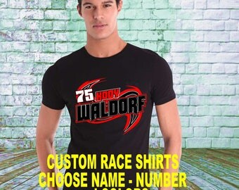 custom personalized racing shirts swirl design - Racing T Shirt Design Ideas
