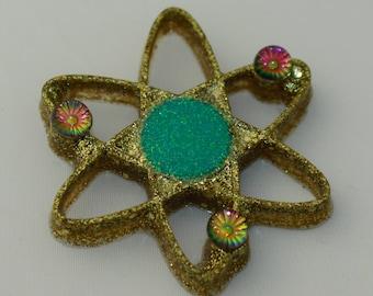 Atom Brooch