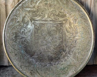 Decorated vintage Dish