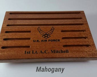 "Custom Military Challenge Coin Holder - 20 Coins - 7 1/4"" x 10"" x 3/4"""