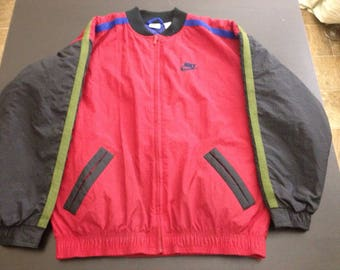Vintage 90s Nike quilted spell out big logo bomber jacket size XL