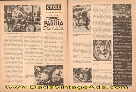 1961 Moto Parilla Olimpia Road Test 3-Page Article #e61da11